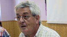Luis Giménez, de ASDEN, este lunes en rueda de prensa./SN