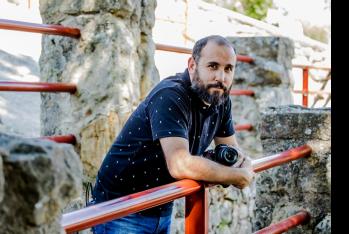 Dani Andrés en los corrales de Valonsaero.David Almajano
