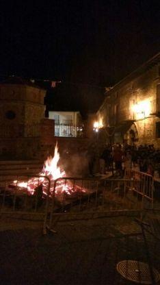 Hoguera de San Juan en Ágreda.