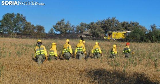 Personal anti incendios en un siniestro en la provincia./SN