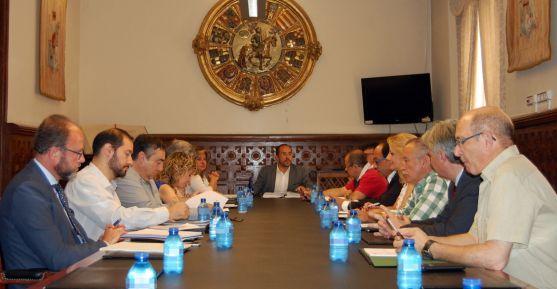 El Consejo Económico y Social este lunes en el Palacio Provincial.