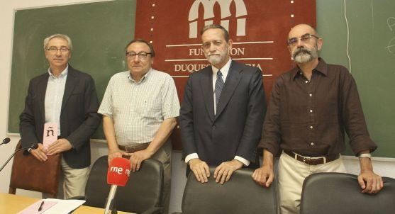 José Mª García (izda.), Alfredo Jimeno, José Mª Rodríguez-Ponga y José Ángel González./SN