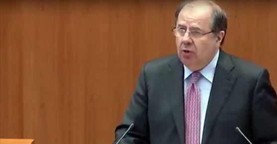 Juan Vicente Herrera este miércoles en el Pleno./Jta.