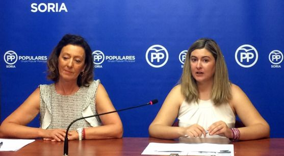 María Pérez (izda.) y Eva García este lunes.