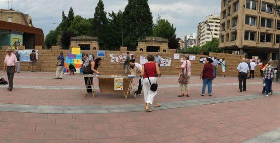 Imagen de la plaza de Mariano Granados, en la capital, este martes.