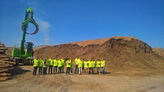 Técnicos de medio ambiente de la Junta, en Tableros Losán.