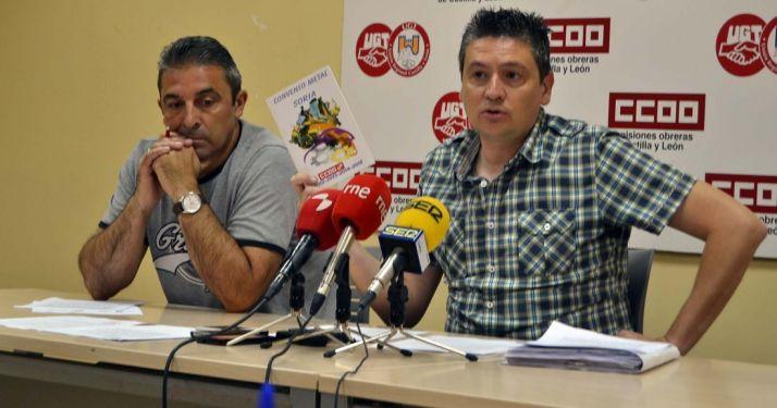 Pablo Soria (izda.) y Alfonso Hernández este martes. /SN