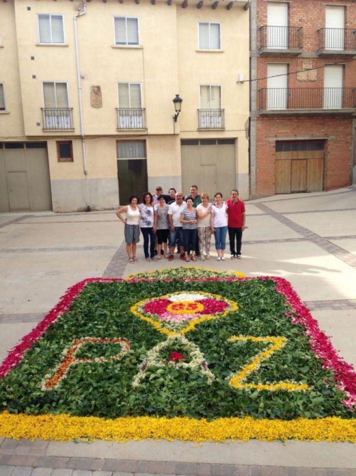 Alfombras florales para el Corpus en Ágreda