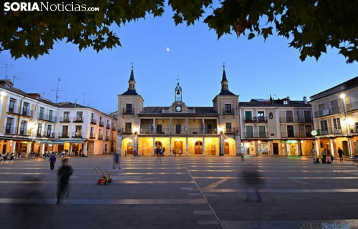 Imagen de la plaza Mayor burgense.