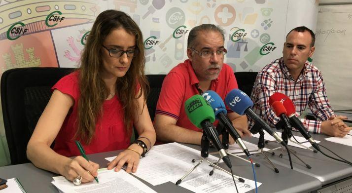 Isabel Madruga, Roberto Fernández y Mariano González.