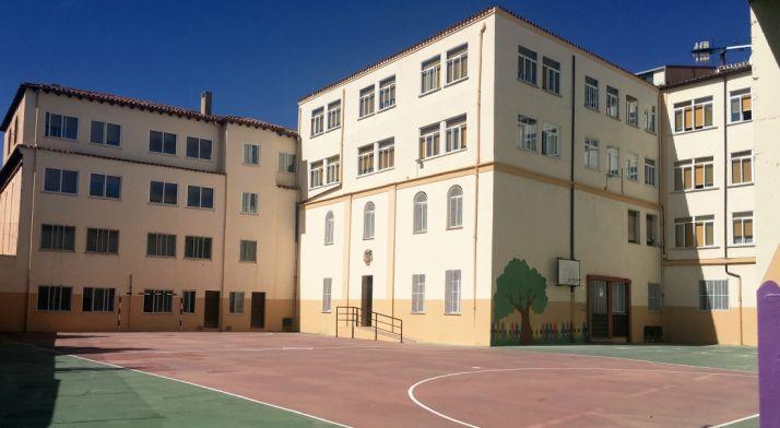 Imagen del patio del colegio.