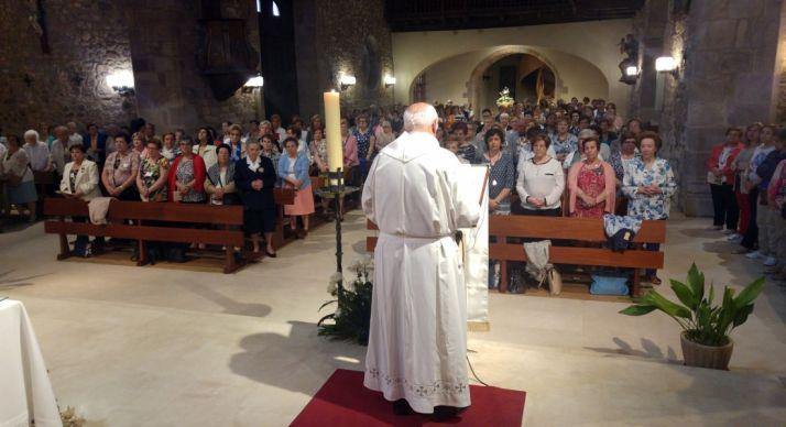 Imagen de la celebración en el templo parroquial de Ólvega./DOS