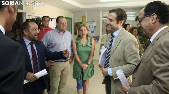 Rey (izda.), Heras, Santos, Ramírez y López.