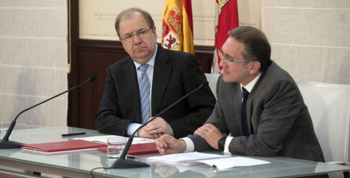 Juan Vicente Herrera y Jaume Giró este martes. /Jta.