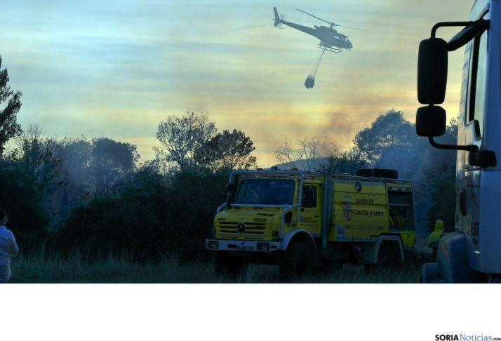 Operativo en un incendio en Soria./SN