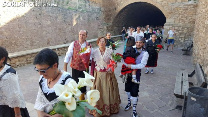 Algunos de los oferentes en el paseo de Invierno en Ágreda./SN