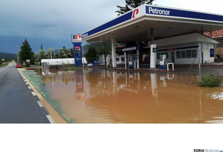 Imagen del agua tras la tormenta./SN