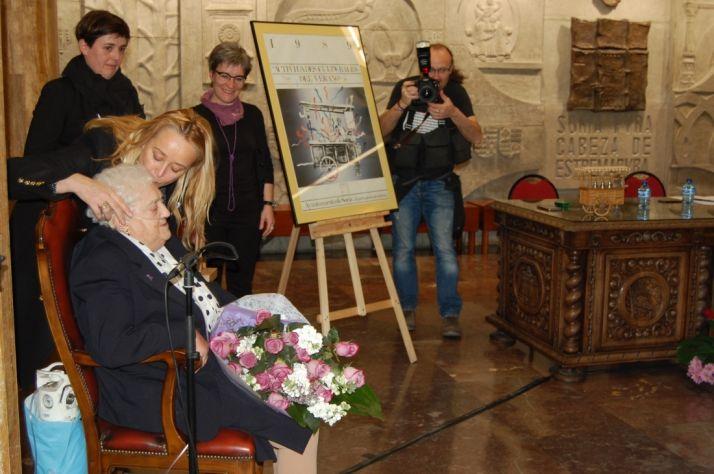 Josefa en el homenaje del Ayuntamiento.