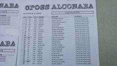 Clasificaciones del Cross de Alconaba.