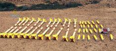 Los cohetes antes de su destrucción./GC EP