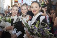 Reina y damas de las fiestas de San Leonardo 2017/ María Ferrer