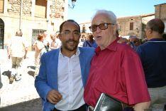 Luis Rey y José Luis Heras, en Vinuesa. /Archivo.