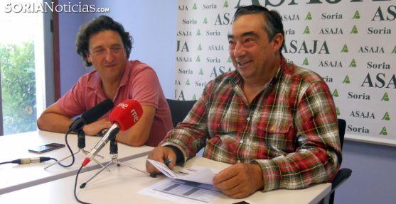 Carmelo Gómez (dcha.) y Juan Francisco Barcones este lunes./SN