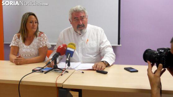 José Ignacio Delgado  y Belén Redondo este jueves./SN