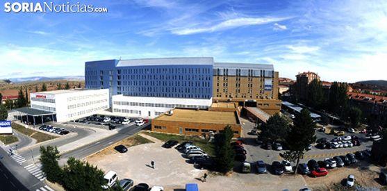 Vista del Hospital de Santa Bárbara, en Soria. /SN