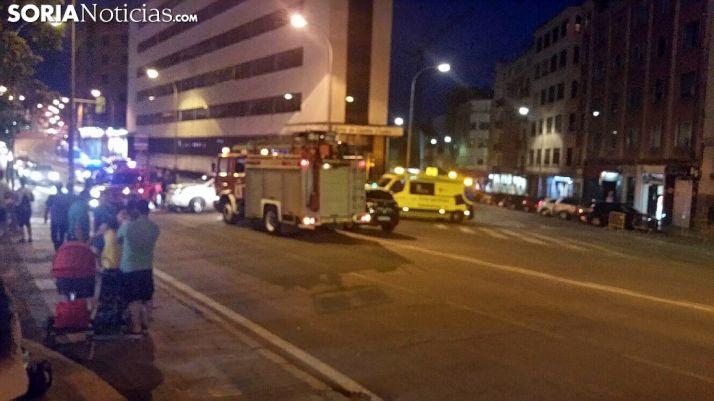 Lugar del accidente con el operativo de asistencia./SN