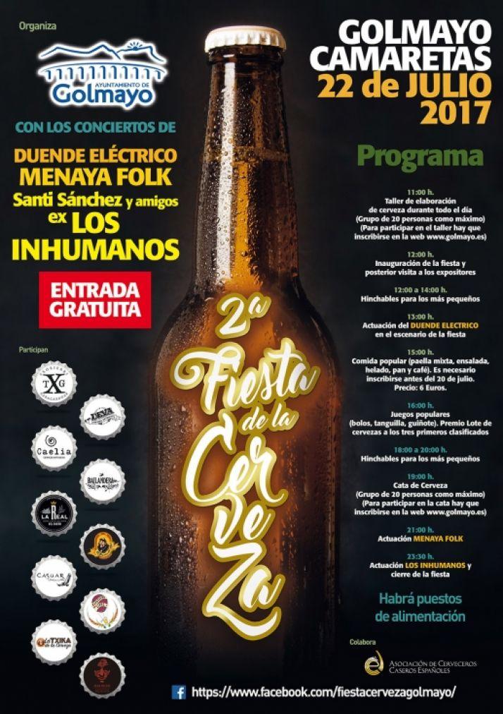 Cartel feria de la cerveza Golmayo