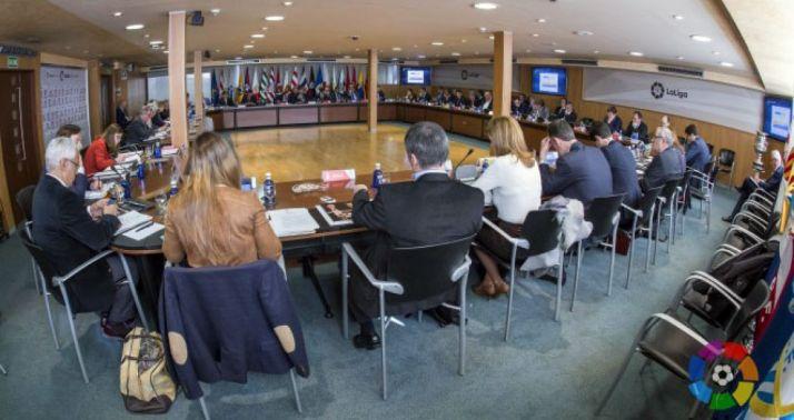 Reunión de responsables de LaLiga./LFP