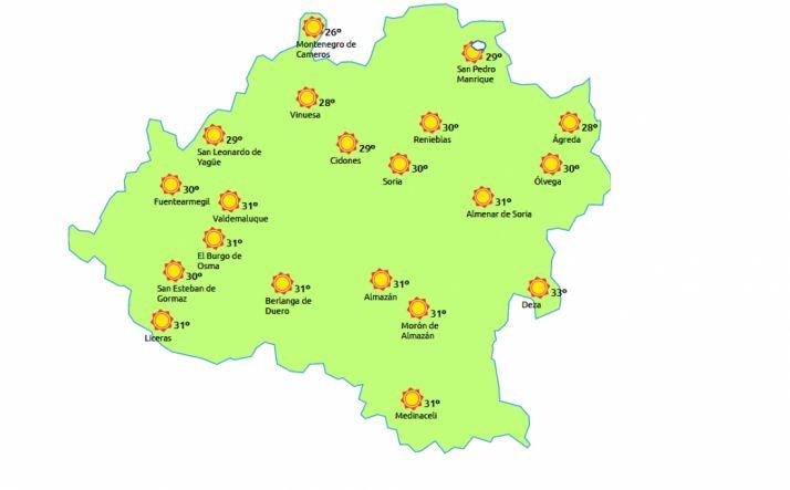 Más calor este miércoles./eltiempo.es