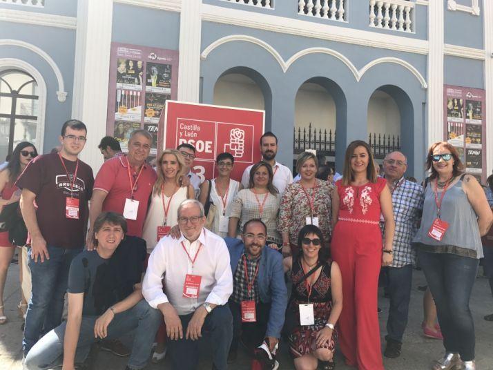 Representantes socialistas sorianos en el congreso autonómico del PSOE.