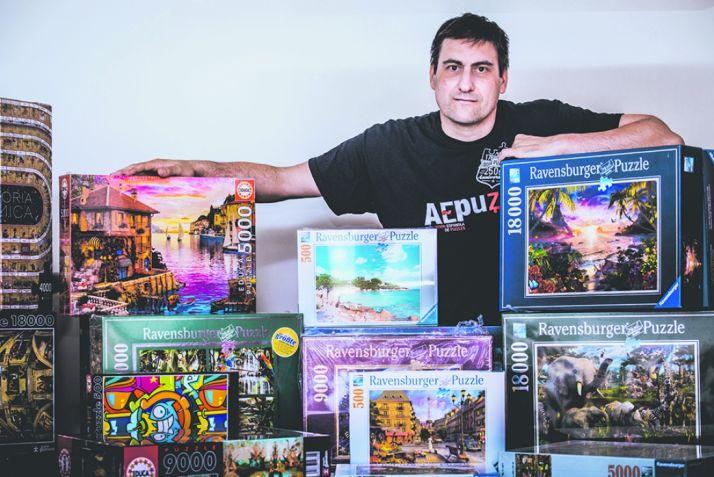 Ángel Heras es 6 veces campeón de España de puzzles y en 2013 fue campeón de Europa. /David Almajano