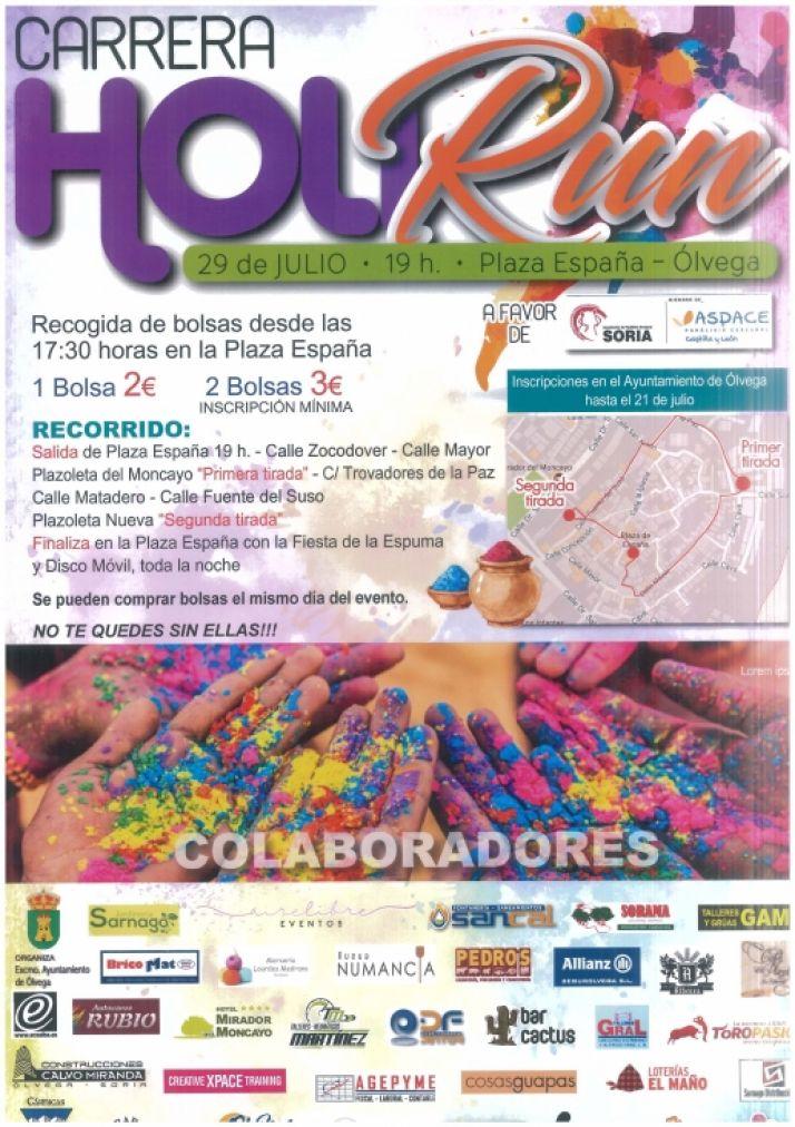 Foto 1 - Carrera solidaria 'Holirun' en Ólvega a favor de ASPACE