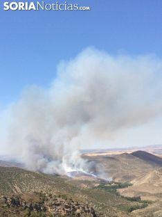 Imagen del incendio de este jueves./SN
