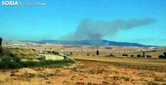 El humo visto desde la N-122./SN