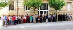 Concentración en la sede de la Subdelegación del Gobierno este viernes./SN