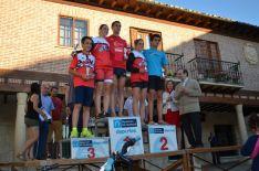 Los ganadores del triatlón.