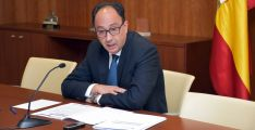 El delegado de la Junta en Soria, Manuel López, este viernes.