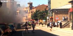 El humo desprendido del incendio./SN