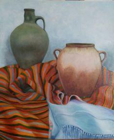 La muestra ofrece trabajos de 34 pintores de la provincia.