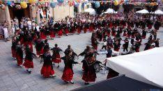 Covaleda bailando la tradicional jota. / SN