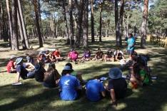 Imágenes del campamento.