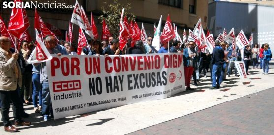 Concentración sindical esta primavera en Soria./SN
