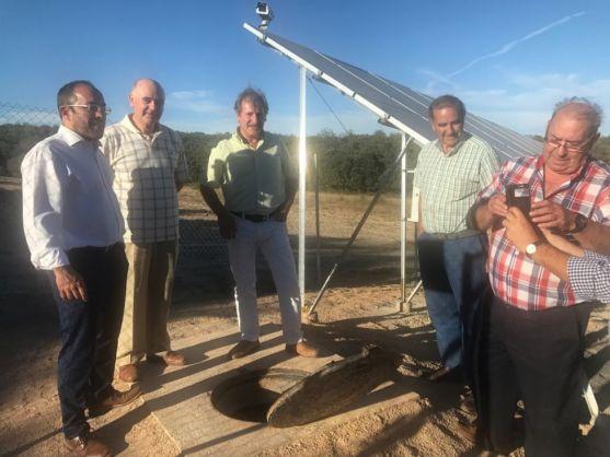 Obras de captación de agua en Matalebreras.
