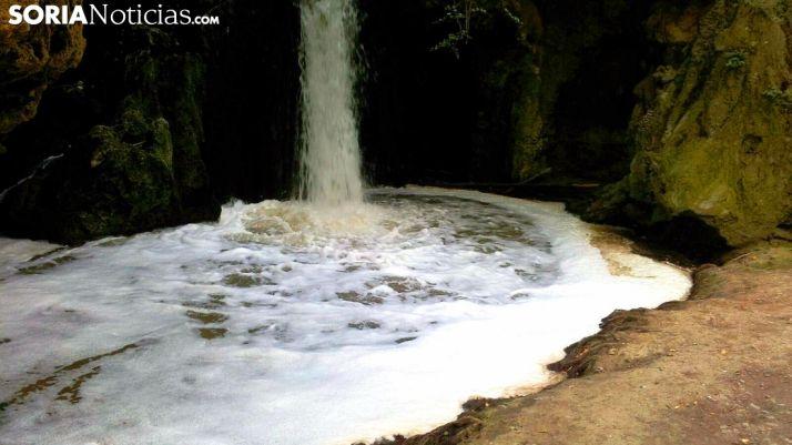 Estado de la Cascada de las Truchas, en el Cañón del Val./SN