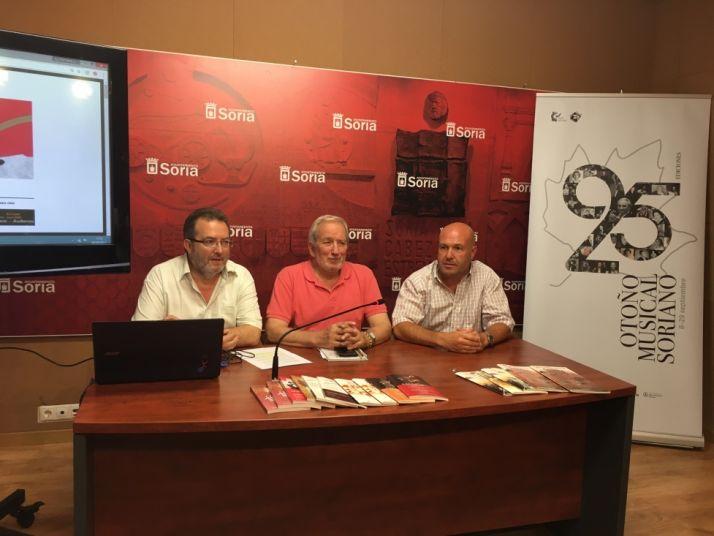 Bárez, Aceña y Almazán en la rueda de prensa. / Ayto