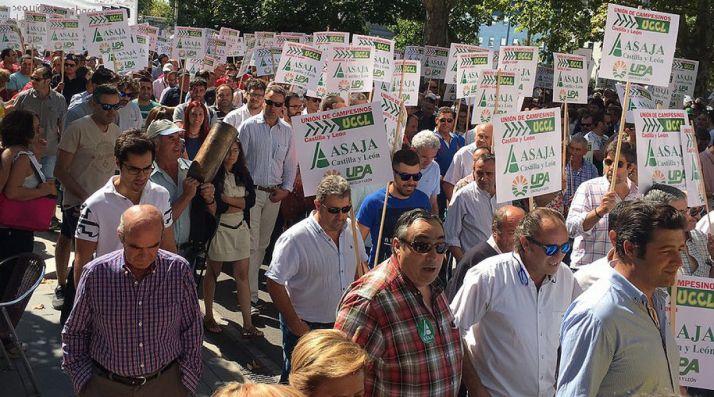 Una imagen de la manifestación este miércoles./AS
